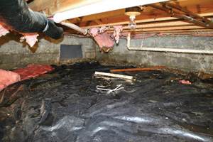 Crawl Space Repair Before in Billings