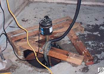A Crow Agency sump pump system that failed and lead to a basement flood.