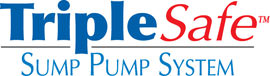 Sump pump system logo for our TripleSafe™, available in areas like Hilger