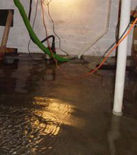 Several feet of floodwaters in a Ballantine basement