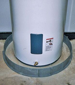 An old water heater in Bridger, MT with flood protection installed