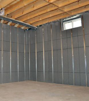 Installed basement wall panels installed in Columbus