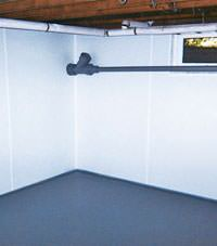Plastic basement wall panels installed in a Shepherd, Montana home